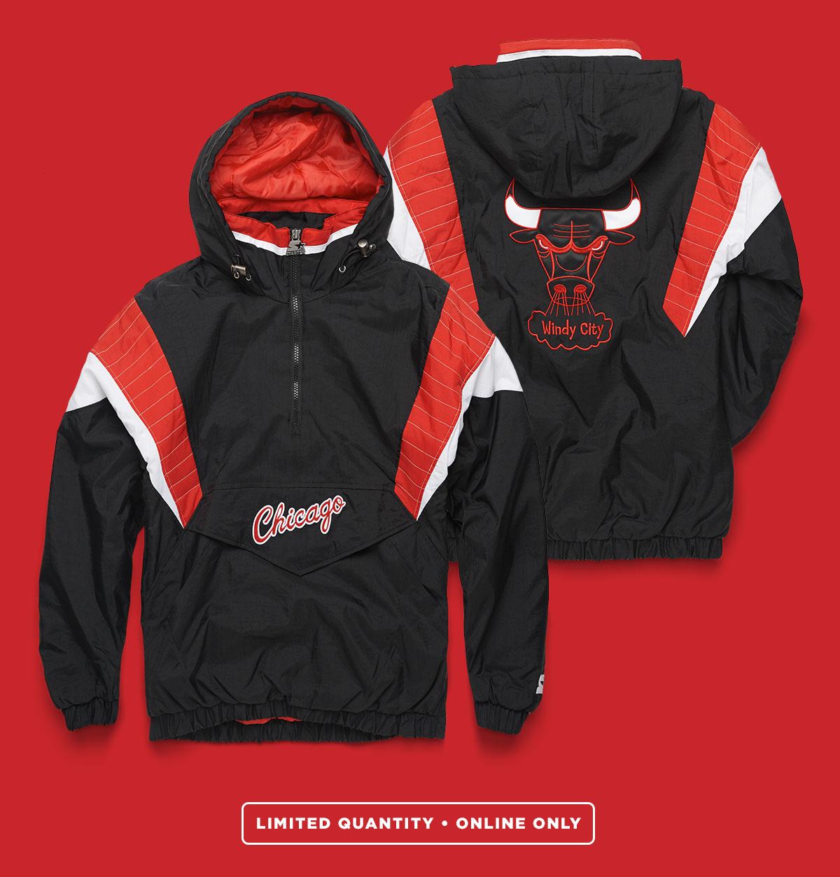Chicago Bulls Starter Pullover Jacket  bf63a5f54